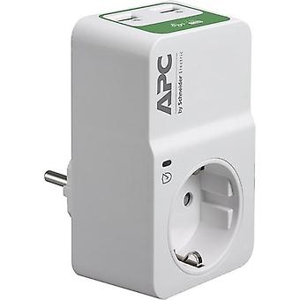 APC PM1WU2-GR, 918 J, 1 AC-utgångar, 230 V, 50 Hz +/- 5 Hz, Vit, 150 g