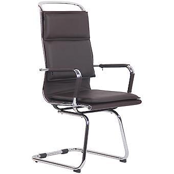 Chaise de bureau - Chaise de bureau - Bureau à domicile - Moderne - Marron - Métal - 56 cm x 66 cm x 113 cm