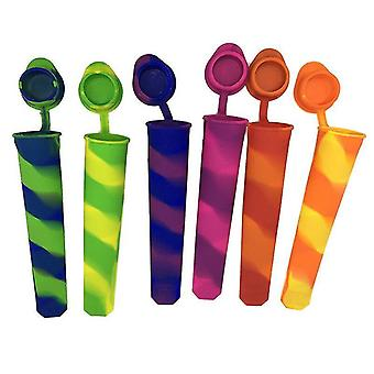 Jewelry holders 6 pcs popsicle maker lolly mould silicone ice stick molds