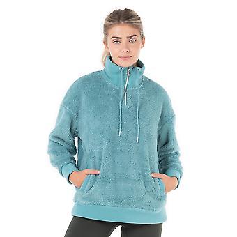 Kyodan Womens Long Sleeve Whisper Sherpa 1/4 Zip Sweater