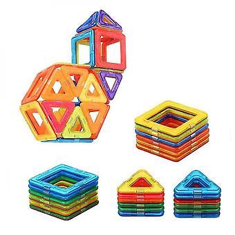 46 stuk magnetisch speelgoed gebouw puzzel speelgoed voor kinderen 30 stuks magneten 16 stuks vierkant