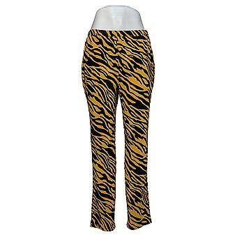 Antthony Women's Pants Printed Pull-On Yellow 716564