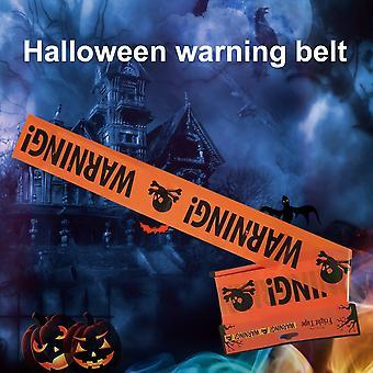 Halloween varoitus varoitus nauha puolue prop sisustus eristys vyö merkki sisustus