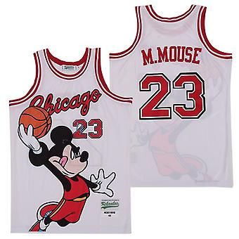 Hommes Chicago #23 Mickey M.mouse Basketball Jersey Sports T Shirt S-xxl