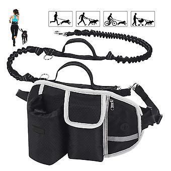Pet Training Lommer, Pet Snack Tasker, Walking Dog Artefakter, Praktisk Løbelommer, Håndfri Hund Snore Black