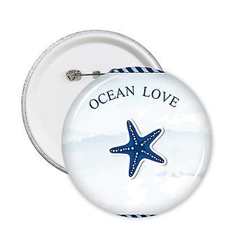 כוכב ים אוקיינוס אהבה ים מפליג תג כפתור 5pcs