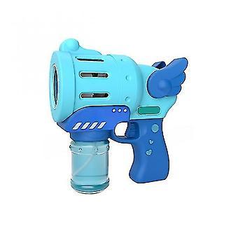 Machine à bulles automatique machine à bulles intérieure et extérieure pour créer une forme de pistolet bleu bulle excitant