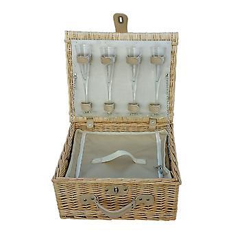 Champagne equipados cesta de Picnic