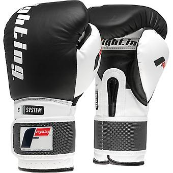Fighting Sports S2 Gel Boxing Power Training Gloves - Black/White