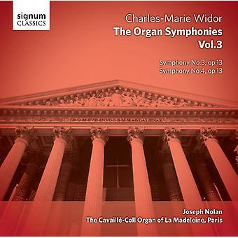 Widor - Charles-Marie Widor: The Complete Organ Symphonies, Vol. 3 [CD] USA import