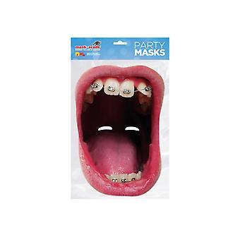 الفم الكبير الأقواس واحد 2D بطاقة الطرف يتوهم قناع اللباس