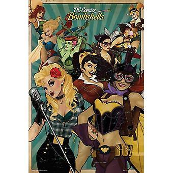 DC コミックばらポスター ポスター印刷