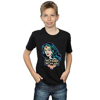 DC Comics Jungen Wonder Woman Head T-Shirt