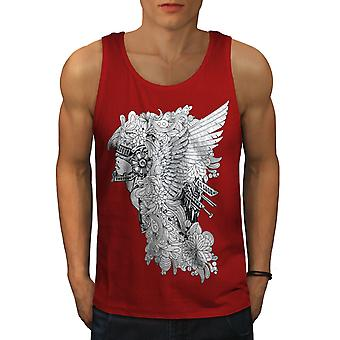 Face Art Mystic Fantasy Men RedTank Top | Wellcoda