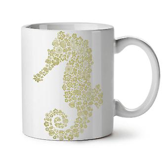 Seahorse Flowers Animal NEW White Tea Coffee Ceramic Mug 11 oz | Wellcoda
