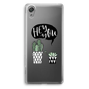 Sony Xperia XA1 przezroczysty sprawa (miękkie) - Hej ty Kaktus