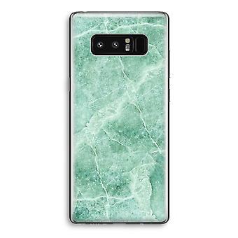 Samsung Galaxy Note 8 gjennomsiktig Case (myk) - grønn marmor