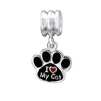 Paw - 925 Sterling Silver Plain Beads - W29524X
