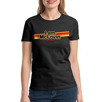 Super mal estoy camiseta negra de McLovin mujeres