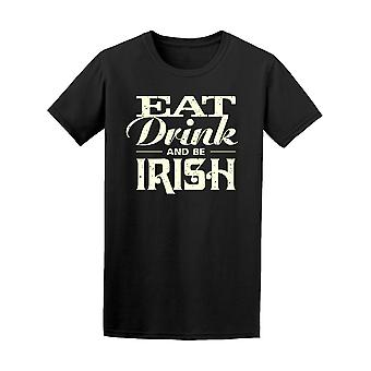 Eat Drink And Be Irish Vintage Tee Men's -Image by Shutterstock