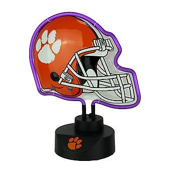 Clemson Tigers Football Helmet Neon Tabletop Statue Accent Lamp