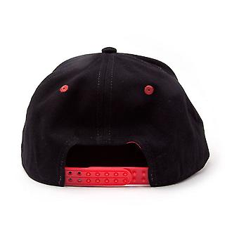 Bioworld God Of War 3D Embroidered Logo Snapback Baseball Cap Black/Red One Size