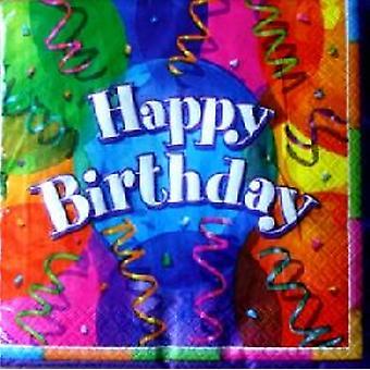 Serviettes de table brillant anniversaire Party