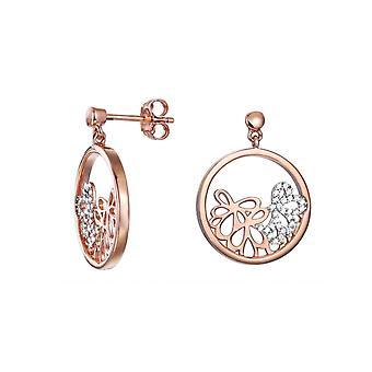 ESPRIT kvinnors örhängen silver Rosé cubic zirconia delikat bukett ESER92948A000