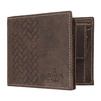 Skipper mens wallet portefeuille sac à main en cuir sac à main paysage brun 7085
