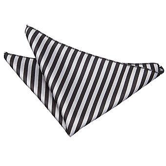 Zwart / zilver Thin Stripe zak plein