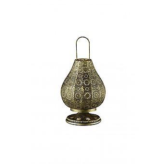 Трио освещения жасмина Винтаж старый Латунь металл настольная лампа