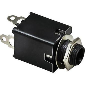 Electrónico de BKL 1109034 6.35 mm conector de audio toma, vertical vertical número de pernos: 3 PC estéreo plata 1