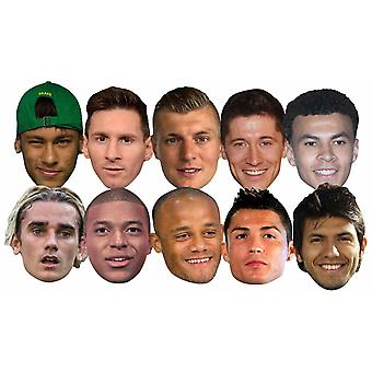 Football World Cup 2018 Super Party Mask 10 Pack