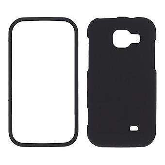 Pedazo de Sprint dos Soft Touch Snap-funda para Samsung Transform M920 - negro