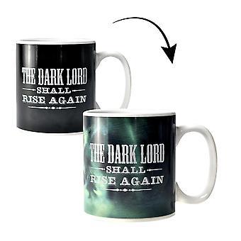 Harry Potter Thermo-effetto Cup XL bianco il Signore oscuro, stampato, in ceramica, capacità circa 400 ml.