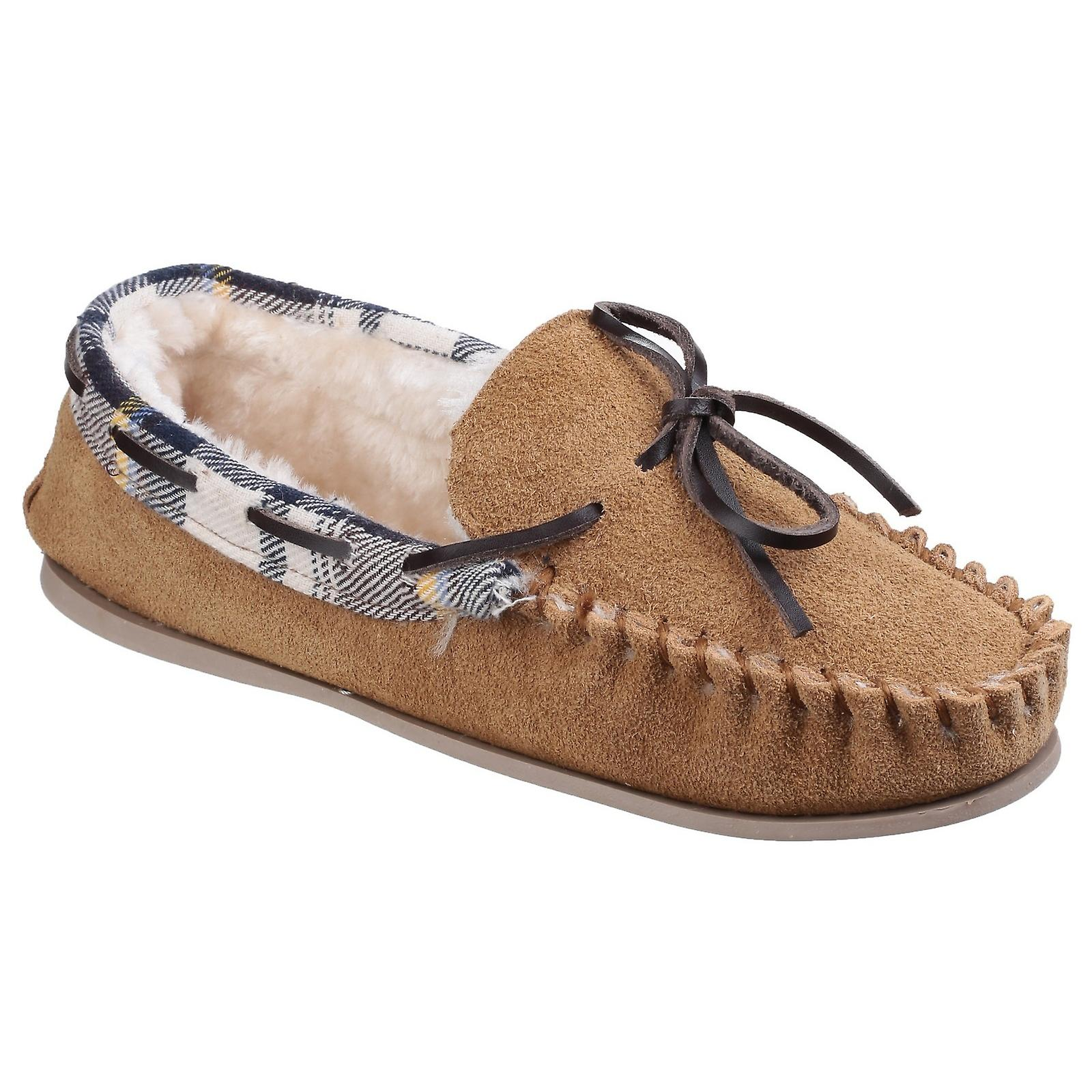 Cotswold Womens/Ladies Kilkenny Classic Fur Lined Moccasin Slippers