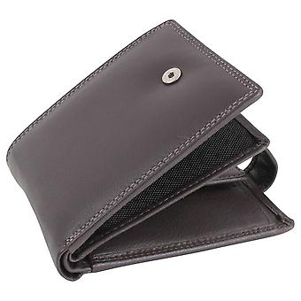 Dalaco Leather RFID Trifold Wallet - Brown