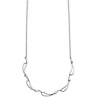 Началами полированного и щеткой волны ожерелье - серебро