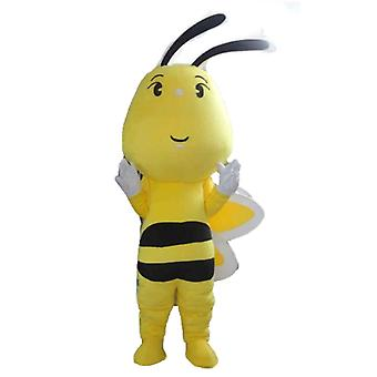 mascot bee yellow, black and white, cute and colorful SPOTSOUND