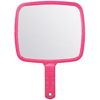 TRIXES Large Pink Handheld Hairdressers Mirror