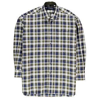 Jonathon Charles Mens 243 Long Sleeve Shirt Lightweight Cotton Chest Pocket