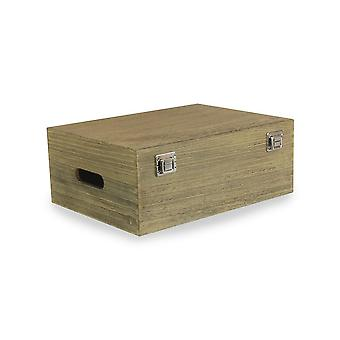 35cm Oak Effect Wooden Box