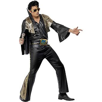 Elvis Black and Gold Costume, Chest 42