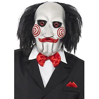 Saw puzzle maska, čierna & biela