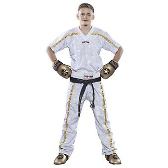Top Ten Mesh Kickboxing Pantaloni Bianco/Oro