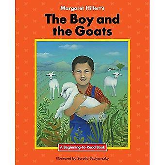 Le garçon et des boucs (début à lire livres)