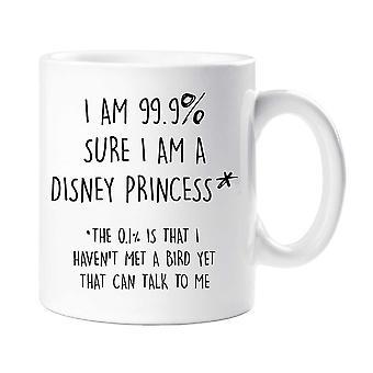 私は 99.9% ディズニー プリンセス マグカップを確信