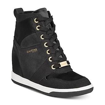 Bebe Womens Charlane Hight Top Lace Up Fashion Sneakers