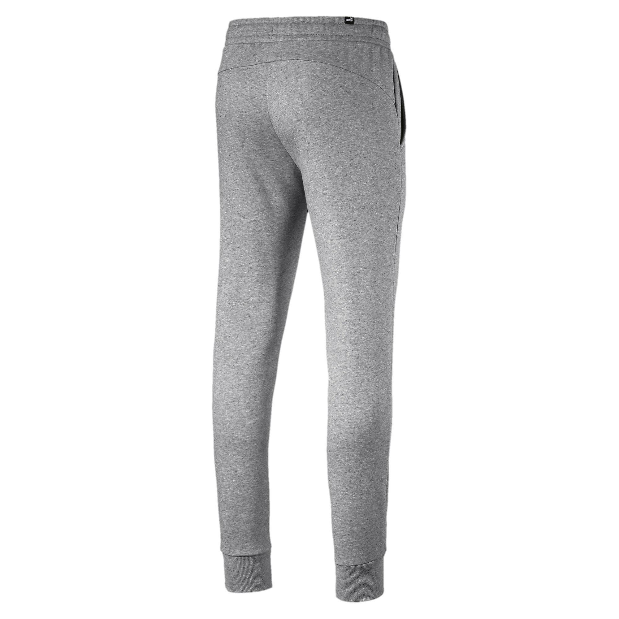 Puma Essentials Logo Mens konisk treningsdrakt Jogging bukse bukse grå