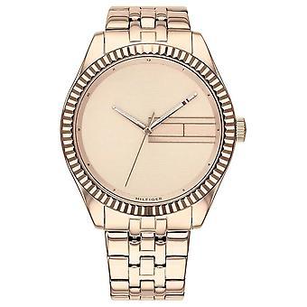 Tommy Hilfiger Pulsera de acero inoxidable en oro rosa de las mujeres's Reloj Dia 1782082 de oro rosa